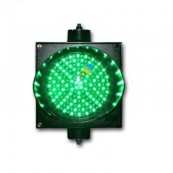 Traffic light 100 mm green