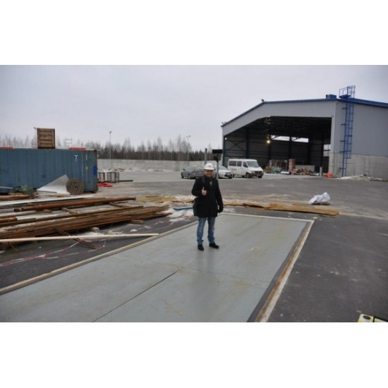 Steel platform truck scales 24
