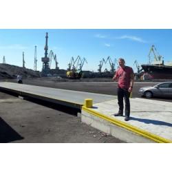 Steel platform truck scales 12m