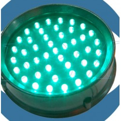 Traffic light 100 mm LED lens / green