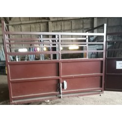 Electronic platform scales B6 with cage and gate for cattle